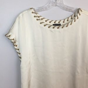 NEW Vince Camuto Silk Rope Lined Blouse Sz XL